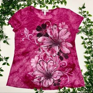 Dress barn Floral Top (L)